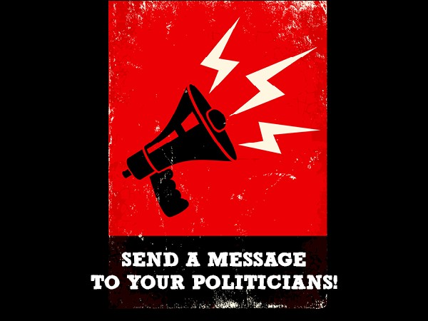 Send a message to politicians