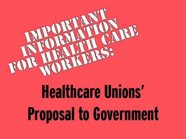 Healthcare Unions' Proposal to Government