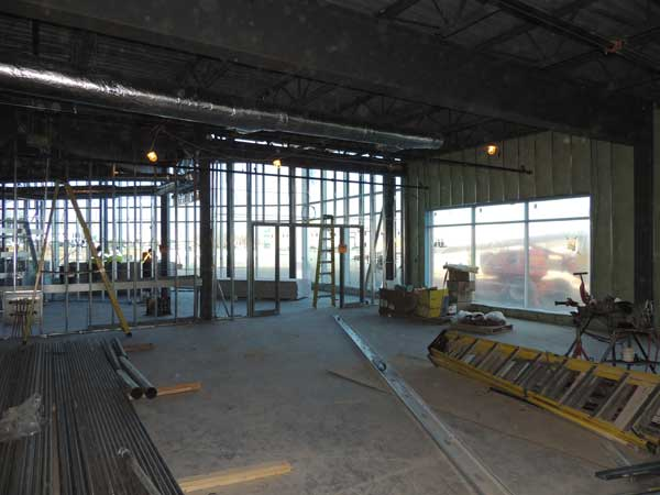 Electrical, ductwork and drywalling are underway
