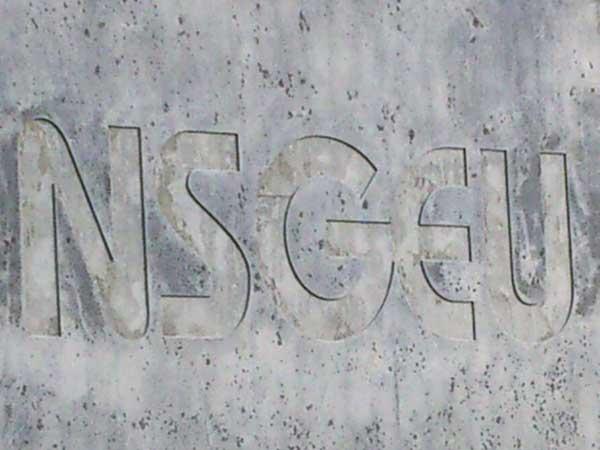 One exterior wall bears NSGEU's logo