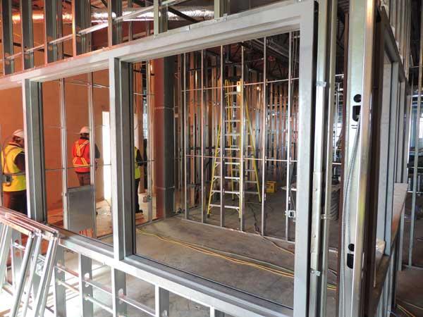 By April, interior work had begun