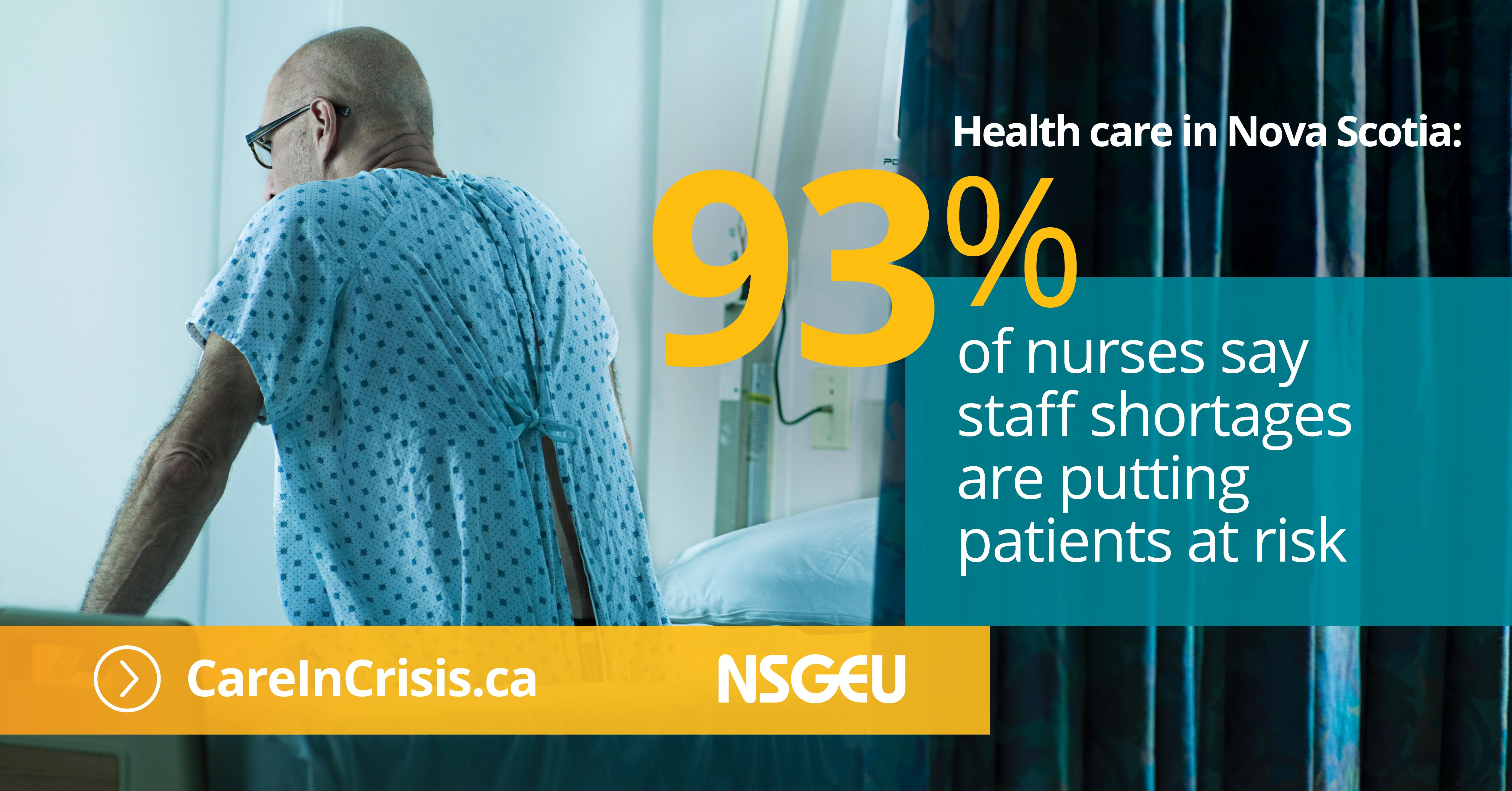 93% of nurses say staff shortages are putting patients at risk.